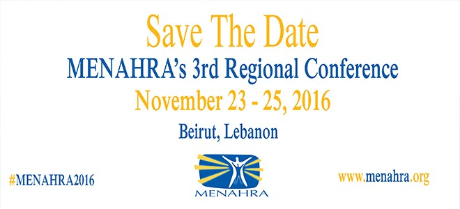 Save the Date - #MENAHRA2016